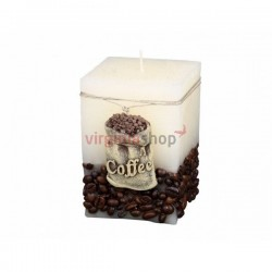 Sviečka coffee hranatá 00051