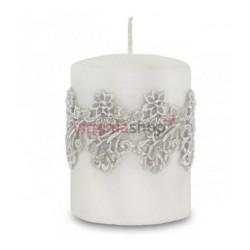 Sviečka kvetinová čipka 00053