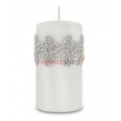 Sviečka kvetinová čipka 00052