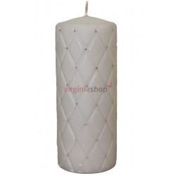 Sviečka s kamienkami šedá 00056