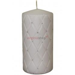 Sviečka s kamienkami šedá 00057