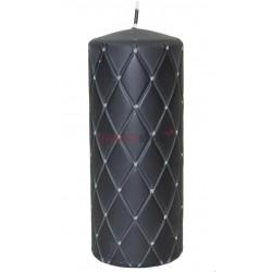 Sviečka s kamienkami čierna 00056