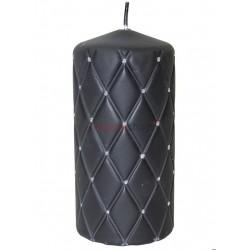 Sviečka s kamienkami čierna 00057