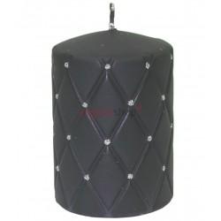 Sviečka s kamienkami čierna 00058
