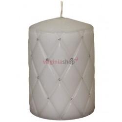 Sviečka s kamienkami šedá 00058
