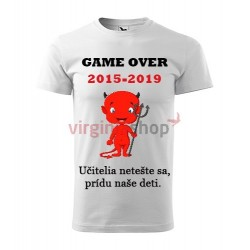 Absolventské tričko Game over