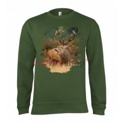 Pánska poľovnícka mikina s motívom jeleň