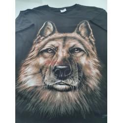 Pánske tričko s krátkym rukávom s motívom vlk