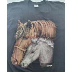 Pánske tričko s krátkym rukávom s motívom kôň