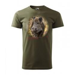 Pánske poľovnícke tričko s motívom diviak