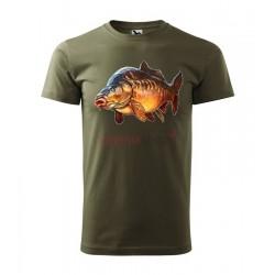 Pánske rybárske tričko s motívom kapor