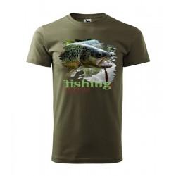 Pánske rybárske tričko s motívom pstruh