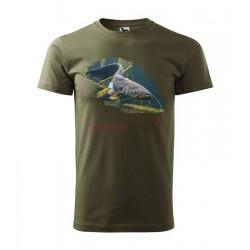 Pánske rybárske tričko s motívom sumec