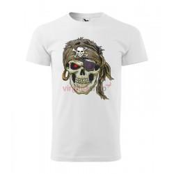 Pánske tričko s krátkym rukávom SKULL