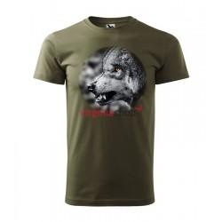 Pánske poľovnícke tričko s motívom vlk