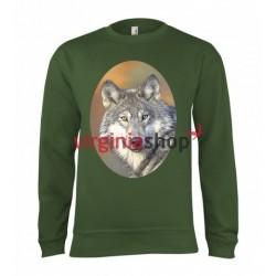Pánska poľovnícka mikina s motívom vlk