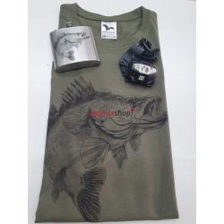 Pánsky set tričko + ploskačka zubáč