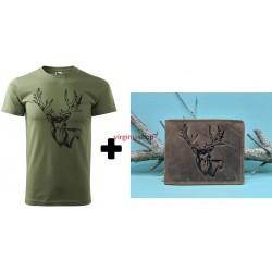 Pánske tričko + pánska kožená peňaženka