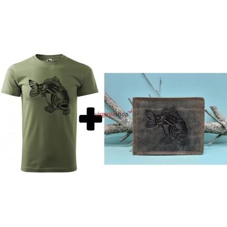 Pánske rybárske tričko + pánska kožená peňaženka