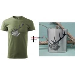 Pánsky set tričko + ploskačka jeleň