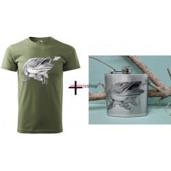 Pánsky set tričko + ploskačka šťuka