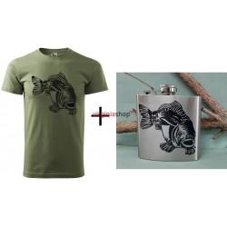 Pánsky set tričko + ploskačka kapor