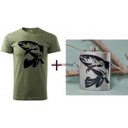 Pánsky set tričko + ploskačka pstruh