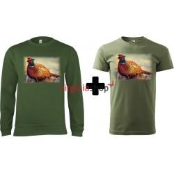 Pánsky set mikina + tričko bažant