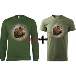 Pánsky set mikina + tričko diviak