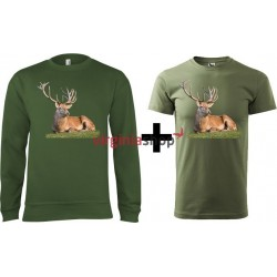 Pánsky set mikina + tričko jeleň
