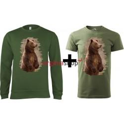 Pánsky set mikina + tričko medveď