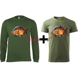 Pánsky set mikina + tričko kapor