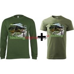 Pánsky set mikina + tričko pstruh