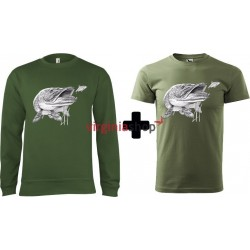 Pánsky set mikina + tričko šťuka