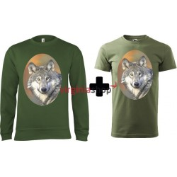 Pánsky set mikina + tričko vlk