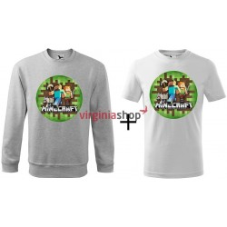 Detský set mikina + tričko Minecraft
