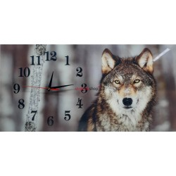 Nástenné hodiny Z330 s motívom vlk