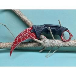 Nôž Karambit F165 pavučina červený
