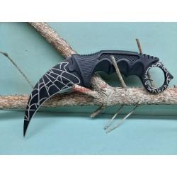 Nôž Karambit F165 pavučina čierny