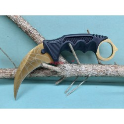 Nôž Karambit F165 pavučina zlatý