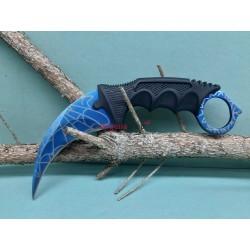 Nôž Karambit F165 pavučina modrý