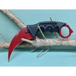 Nôž Karambit F166 červený