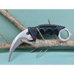 Nôž Karambit F166 strieborný