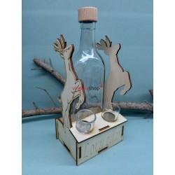Drevený stojan na fľašu jeleň 1566