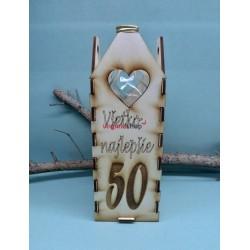 Drevený stojan na fľašu jeleň