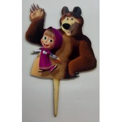 Zápich na tortu Máša a medveď