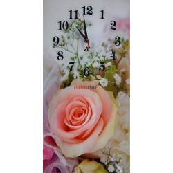 Nástenné hodiny Z330 s motívom kvetov