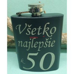 Fľaša ploskačka 7G k 50 výročiu