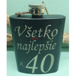 fľaša ploskačka 8G k 40 výročiu