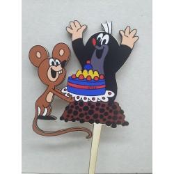 Zápich nsa tortu Krtko s myškou